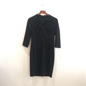 Anontio Melani black structured dress